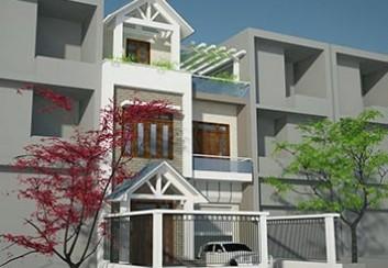 Thiết kế nhà lô phố 3 tầng mặt tiền 7,5m