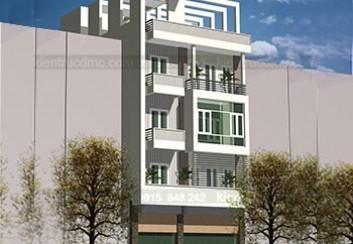 Thiết kế nhà phố đẹp hiện đại mặt tiền 9m