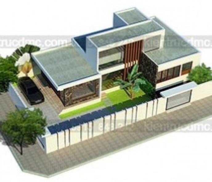 Thiết kế nhà vườn 2 tầng đẹp hiện đại