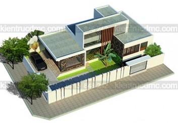 Thiết kế biệt thự hiện đại trên đất 375m2