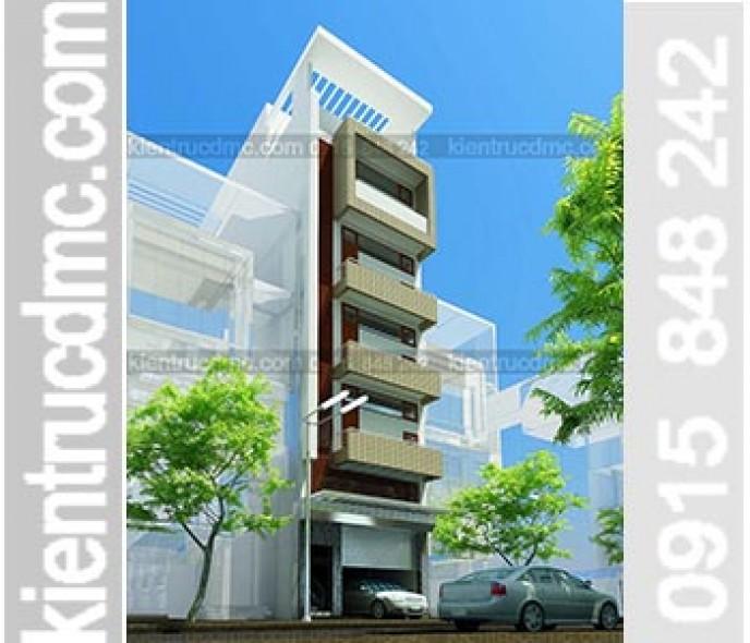 Thiết kế nhà phố đẹp 7 tầng kinh doanh nhà nghỉ