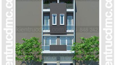 Thiết kế nhà phố 4 tầng 2 ghép 1 đẹp hiện đại