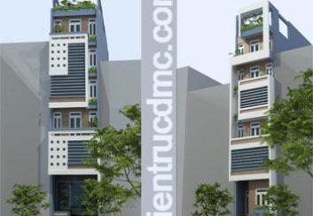 Thiết kế nhà ống hiện đại 7 tầng cho thuê