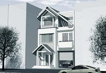 Thiết kế biệt thự phố 3 tầng hiện đại
