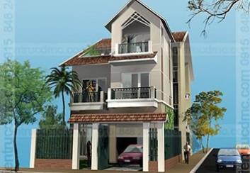 Thiết kế biệt thự phố 3 tầng phong cách