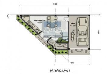 Thiết kế nhà phố 3 tầng 200m2