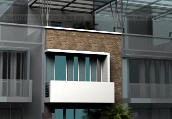 Thiết kế nhà phố 3 tầng – Quốc Oai – HN