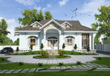 Thiết kế nhà vườn 1 tầng đẹp đa phong cách