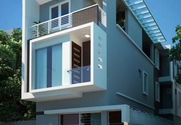 Thiết kế nhà phố 3 tầng 90m2