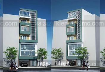 Thiết kế nhà phố 7 tầng diện tích 75m2