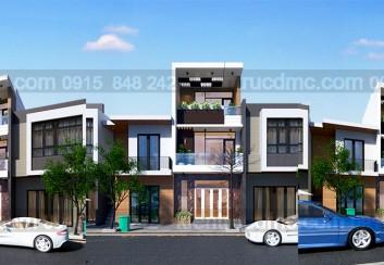 Thiết kế nhà lô 3 tầng mặt tiền 4.7m diện tích 54 m2