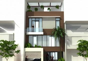 Thiết kế nhà phố 3,5 tầng mặt tiền 8m – Bắc Ninh