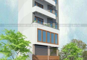 Thiết kế nhà phố 7 tầng diện tích 76m2