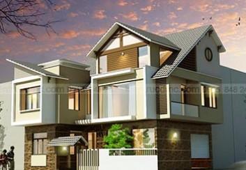Thiết kế Nhà lô phố 2 mặt tiền 3 tầng