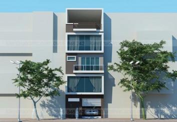 Thiết kế Nhà phố 4,5 tầng mặt tiền 6m