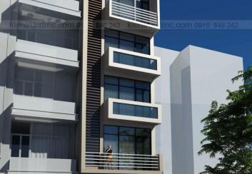 Thiết kế nhà phố 6 tầng đẹp hiện đại