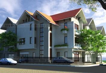 Thiết kế biệt thự hiện đại 3 tầng Bắc Ninh