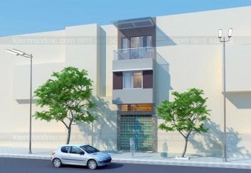 Thiết kế nhà phố 60m2 mặt tiền 3.5m