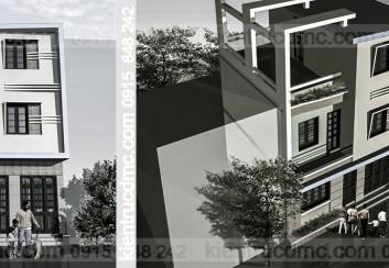 Thiết kế nhà phố 3 tầng hiện đại đẹp phong cách