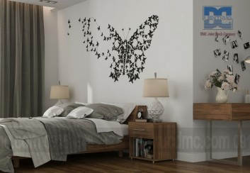 Trang trí tường đầu giường nội thất phòng ngủ ấn tượng