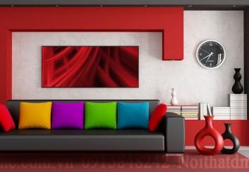 Bố trí đồng hồ trong nội thất phòng khách hợp phong thủy