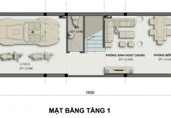 Thiết kế nhà 2 mặt tiền 73m2