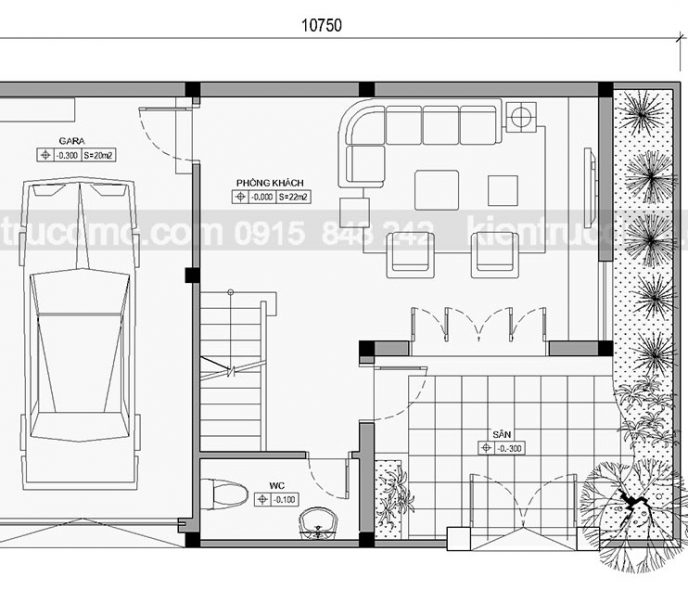 Thiết kế Biệt thự phố 4 tầng phong cách hiện đại