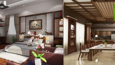 Thiết kế nội thất nhà ở kết hợp văn phòng làm việc Công ty Tuấn Cường