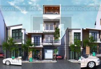 Thiết kế nhà phố 4 tầng kết hợp kinh doanh diện tích 42 m2