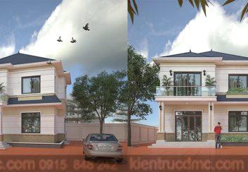 Thiết kế biệt thự 2 tầng diện tích 220m2 phong cách hiên đại
