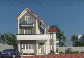 Thiết kế biệt thự 3 tầng hình chữ L