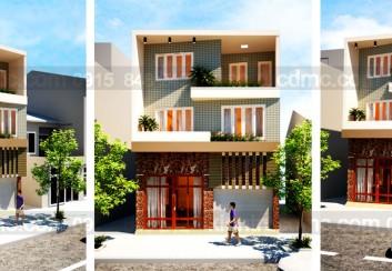 Thiết kế biệt thự phố 3 tầng mặt tiền 8,5m