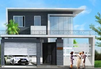 Thiết kế biệt thự phố phong cách hiện đại 2 tầng