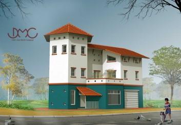 Thiết kế biệt thự phong cách 3 tầng – HCM