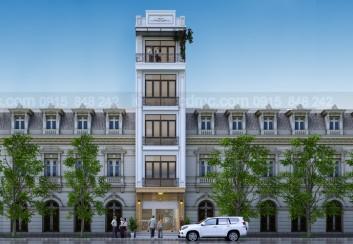 Thiết kế cải tạo nhà phố 5 tầng phong cách cổ điển