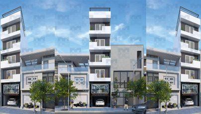 Thiết kế chung cư mini 6 tầng diện tích 220m2