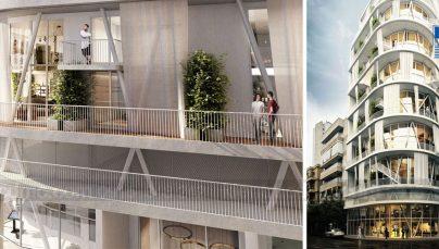 Thiết kế chung cư mini 9 tầng kết hợp sàn thương mại ở Lebanon