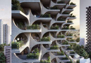 Thiết kế chung cư với vòm gạch xếp chồng độc đáo