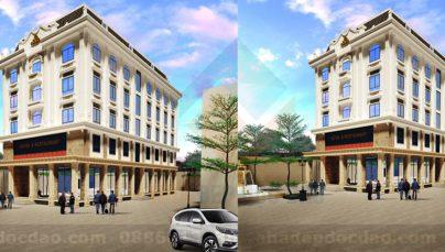 Thiết kế khách sạn 5 tầng trên diện tích 513m2 phong cách hiện đại