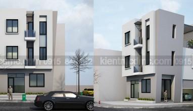Thiết kế nhà lô 3 tầng trên đất 60m2