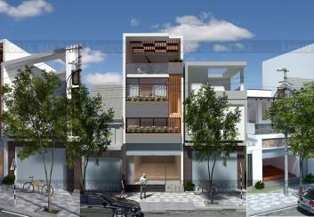Thiết kế nhà ở kết hợp kinh doanh 3,5 tầng