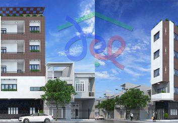 Thiết kế nhà ở kết hợp kinh doanh 5 tầng trên diện tích 70m2