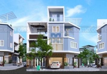 Thiết kế nhà phố 2 mặt tiền kết hợp kinh doanh diện tích 60 m2