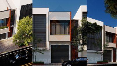 Thiết kế nhà phố 2 tầng phong cách hiện đại trên diện tích 90m2