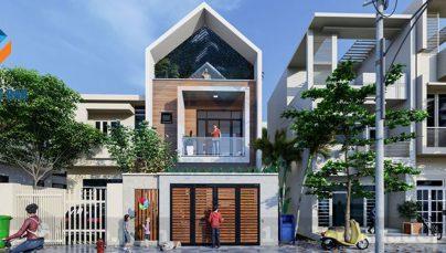 Thiết kế nhà phố 2,5 tầng 2 mặt tiền trên diện tích 180m2