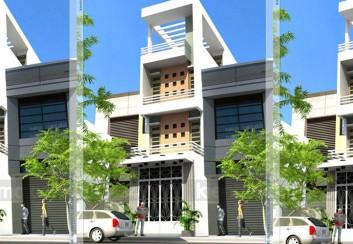 Thiết kế nhà phố lệch tầng mặt tiền 4.5m