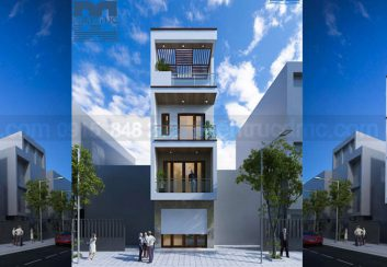 Thiết kế nhà phố 4 tầng diện tích 76m2