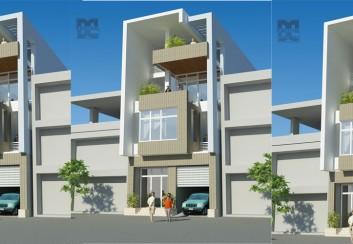 Thiết kế nhà phố 4 tầng kết hợp văn phòng làm việc