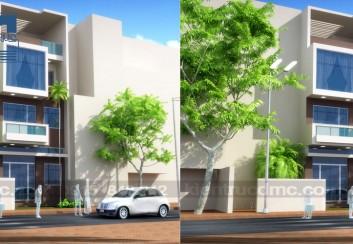 Thiết kế nhà phố 4 tầng ở Tiên Du – Bắc Ninh