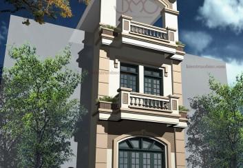 Thiết kế nhà phố 3 tầng đẹp mặt tiền 4.5m – Hà Nội
